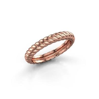 Stackable ring Caren 375 rose gold