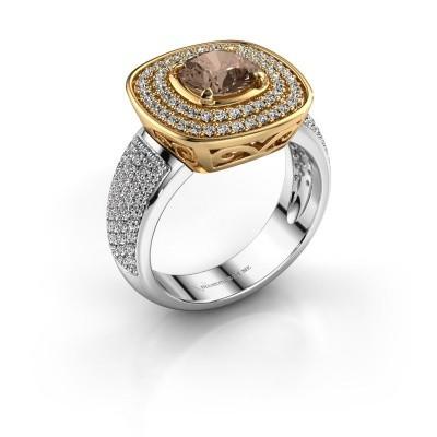 Foto van Ring Eliana 585 goud bruine diamant 1.54 crt