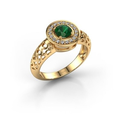 Foto van Ring Katalina 585 goud smaragd 5 mm