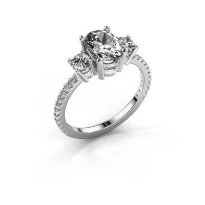 Foto van Verlovingsring Emelda 925 zilver diamant 1.615 crt