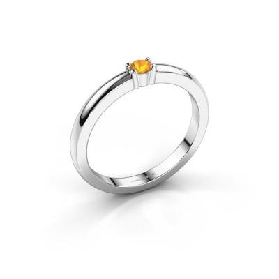 Foto van Promise ring Yasmin 1 585 witgoud citrien 2.7 mm