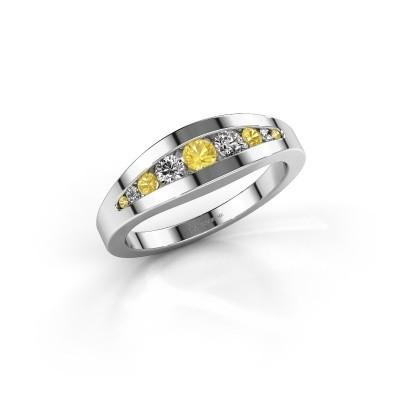 Ring Oneida 585 white gold yellow sapphire 3 mm