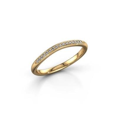 Ring SR20A2H 375 gold diamond 0.08 crt