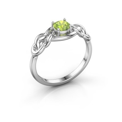 Picture of Ring Zoe 925 silver peridot 5 mm