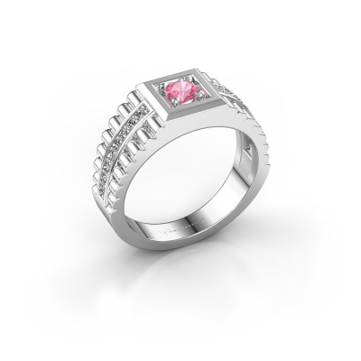 Picture of Men's ring Maikel 585 white gold pink sapphire 4.2 mm