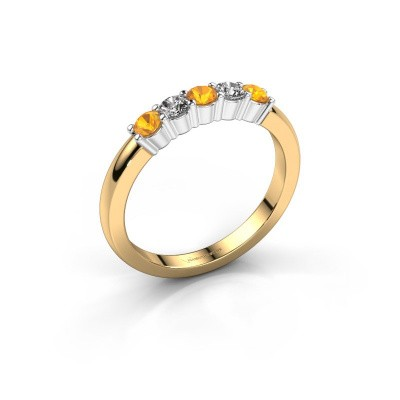 Picture of Engagement ring Yasmin 5 585 gold citrin 3 mm