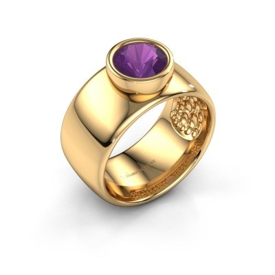Ring Klarinda 585 gold amethyst 7 mm
