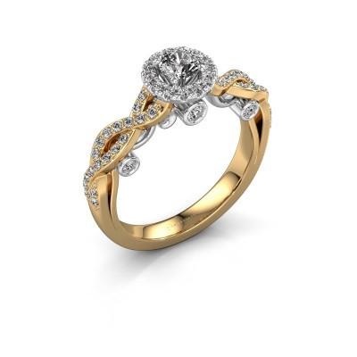 Foto van Verlovingsring Madeleine 585 goud diamant 0.708 crt