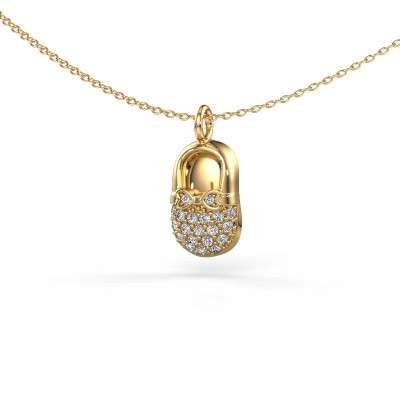 Photo de Pendentif Babyshoe 585 or jaune diamant 0.193 crt
