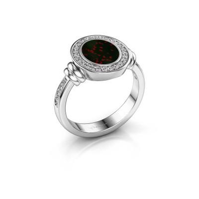 Signet ring Bailey 925 silver bloodstone 10x8 mm