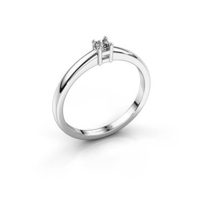 Promise ring Eline 1 925 zilver zirkonia 3 mm