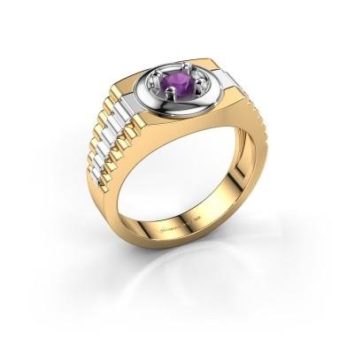Foto van Rolex stijl ring Edward 585 goud amethist 4.7 mm