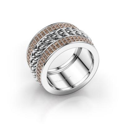 Bild von Ring Jayda 585 Weißgold Braun Diamant 1.50 crt