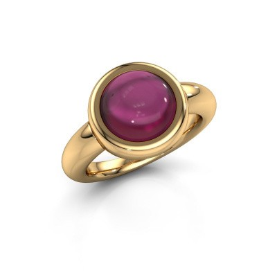Bague Jenae 585 or jaune rhodolite 10 mm
