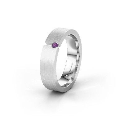 Picture of Wedding ring WH0120L15BM 585 white gold amethyst ±0.20x0.08 in
