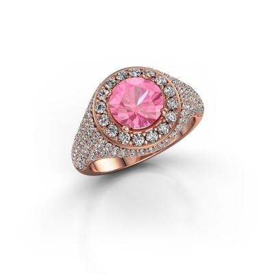Foto van Ring Dayle 375 rosé goud roze saffier 7 mm