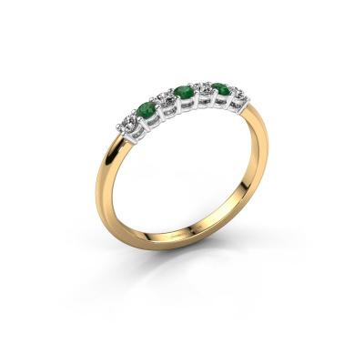 Verlovings ring Michelle 7 585 goud smaragd 2 mm