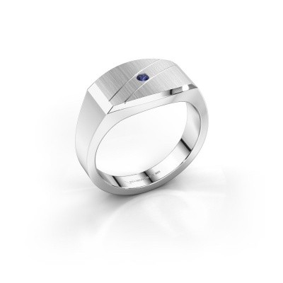 Men's ring Joe 3 585 white gold sapphire 2 mm