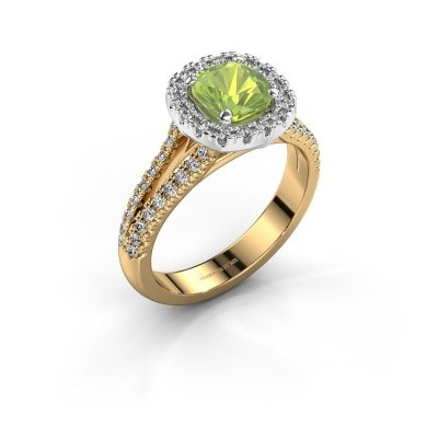Verlovingsring Francesca 585 goud peridoot 6 mm