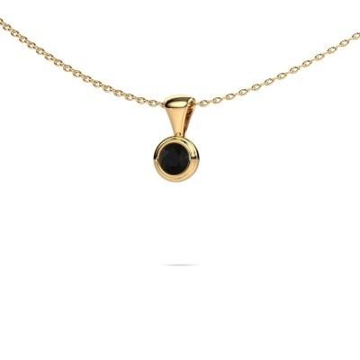 Foto van Ketting Lieke 375 goud zwarte diamant 0.30 crt