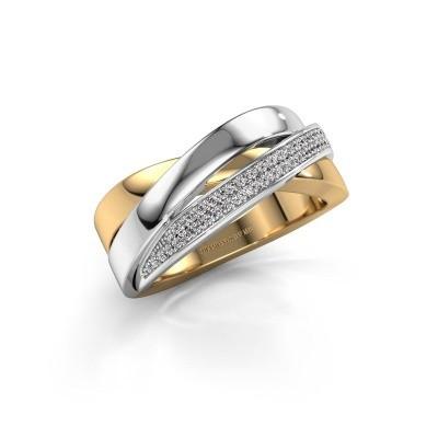 Foto van Ring Katherina 585 goud diamant 0.255 crt