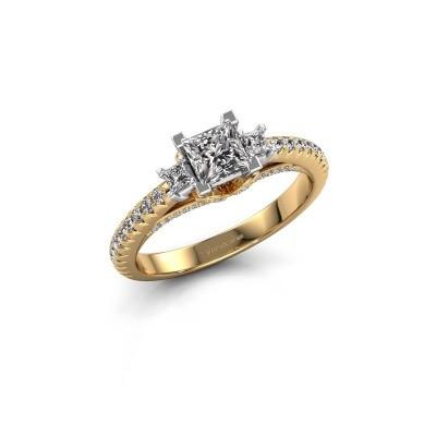 Bague de fiançailles Valentina 585 or jaune diamant 0.88 crt