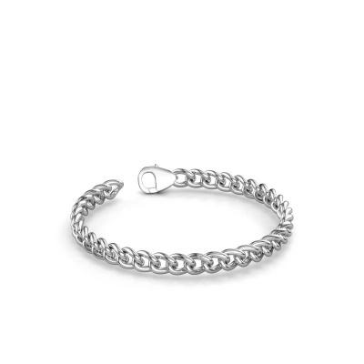 Cuban link armband ±6 mm 375 witgoud