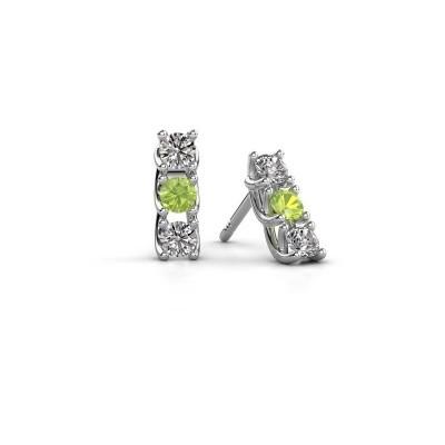 Picture of Earrings Fenna 925 silver peridot 3 mm
