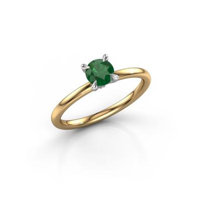 Foto van Verlovingsring Crystal RND 1 585 goud smaragd 5 mm