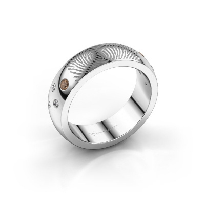 Bild von Ring Minke 950 Platin Braun Diamant 0.135 crt