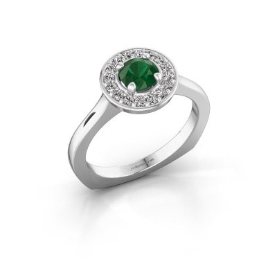 Picture of Ring Kanisha 1 585 white gold emerald 5 mm