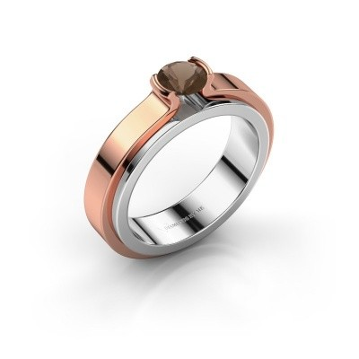 Engagement ring Jacinda 585 white gold smokey quartz 4.7 mm