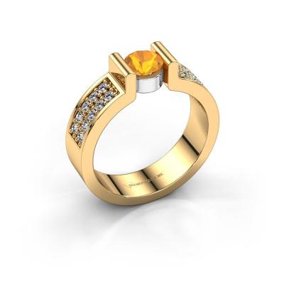Verlovingsring Isabel 3 585 goud citrien 5 mm