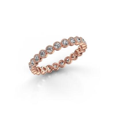 Bild von Ring Mariam 0.03 375 Roségold Lab-grown Diamant 0.69 crt