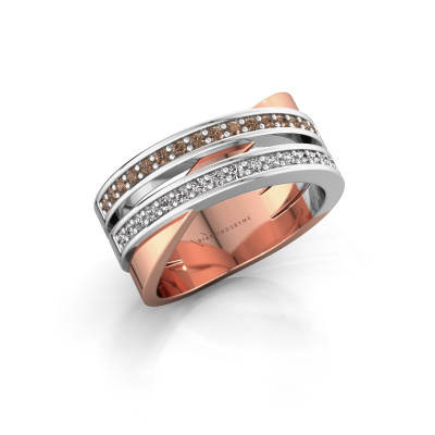 Ring Margje 585 rose gold brown diamond 0.32 crt