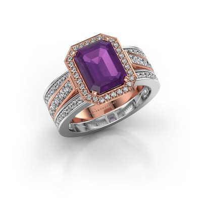 Picture of Ring Dodie 3 585 rose gold amethyst 9x7 mm