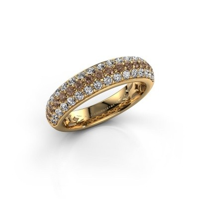 Bild von Ring Emely 6 375 Gold Braun Diamant 0.952 crt
