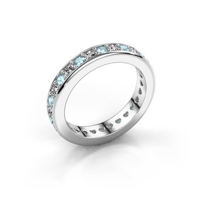 Photo de Bague superposable Nienke 585 or blanc aigue-marine 2.2 mm