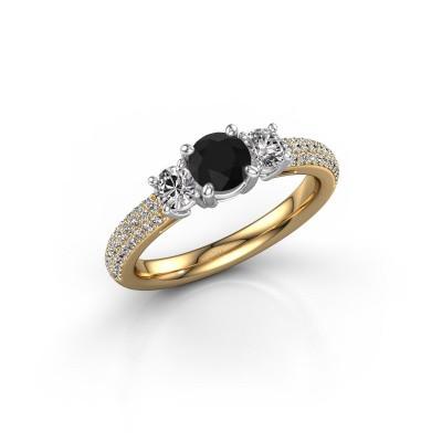 Foto van Verlovingsring Marielle RND 585 goud zwarte diamant 1.27 crt