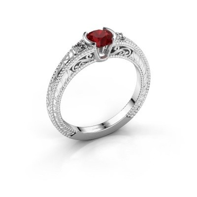Picture of Engagement ring Anamaria 950 platinum ruby 5 mm