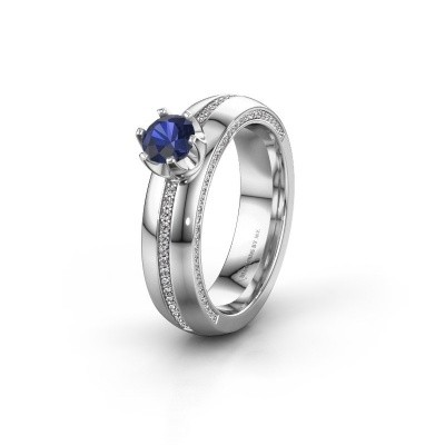 Weddings ring WH0416L25E 925 silver sapphire ±5x2.6 mm