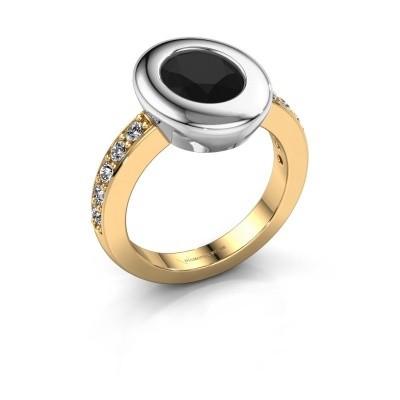 Ring Selene 2 585 goud zwarte diamant 2.16 crt