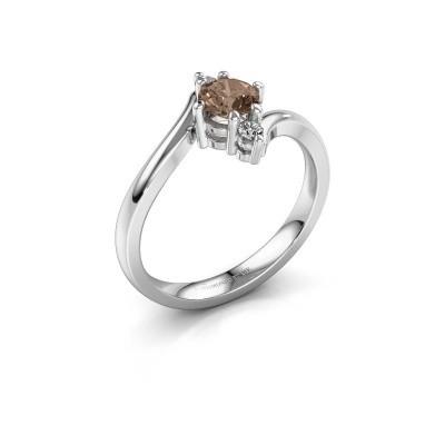 Foto van Verlovingsring Genna 585 witgoud bruine diamant 0.56 crt