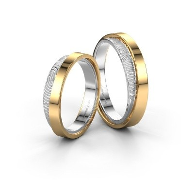 Picture of Wedding rings set WHR0426LM ±0.20x0.08 in gold