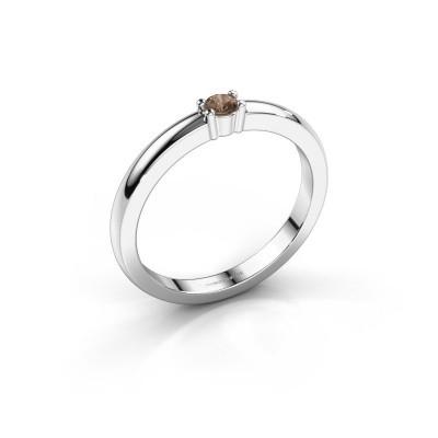 Foto van Promise ring Yasmin 1 585 witgoud bruine diamant 0.08 crt