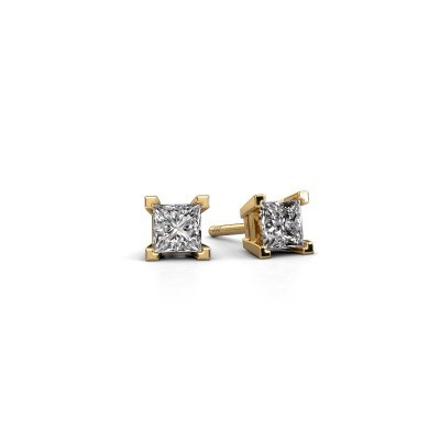 Photo de Clous d'oreilles Ariane 585 or jaune diamant 0.80 crt