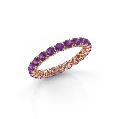 Picture of Ring Vivienne 2.7 375 rose gold amethyst 2.7 mm