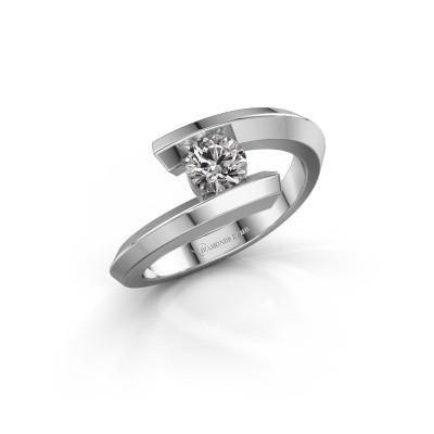 Foto van Ring Paulette 925 zilver diamant 0.30 crt