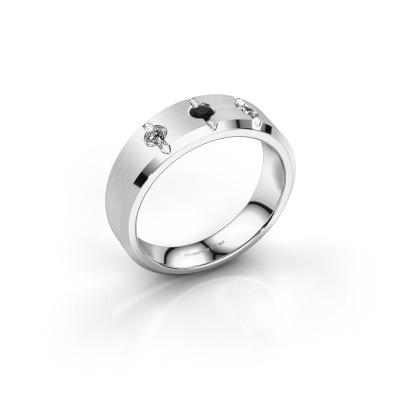Foto van Heren ring Remco 950 platina zwarte diamant 0.256 crt