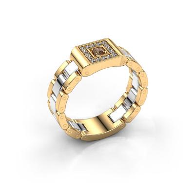 Herrenring Giel 585 Gold Braun Diamant 0.20 crt